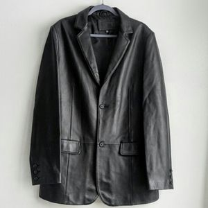 Apt. 9 men's 100% leather black jacket